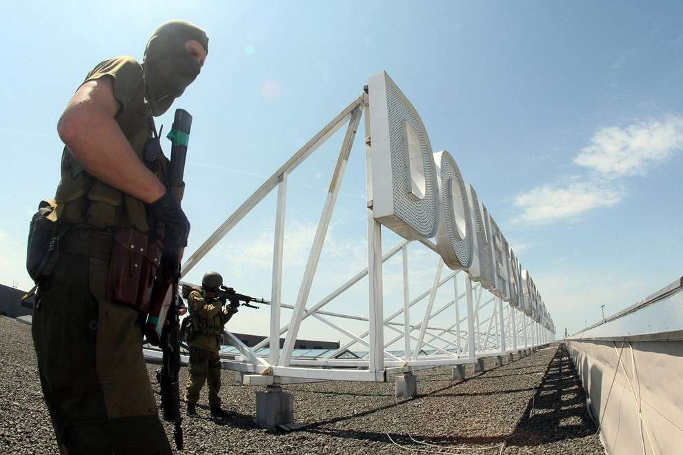 Повстанцы на крыше донецкого аэропорта