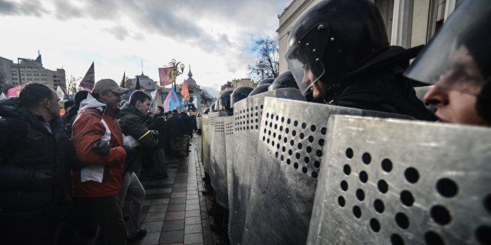 В Киеве шахтеры митингуют против уничтожения угольной отрасли