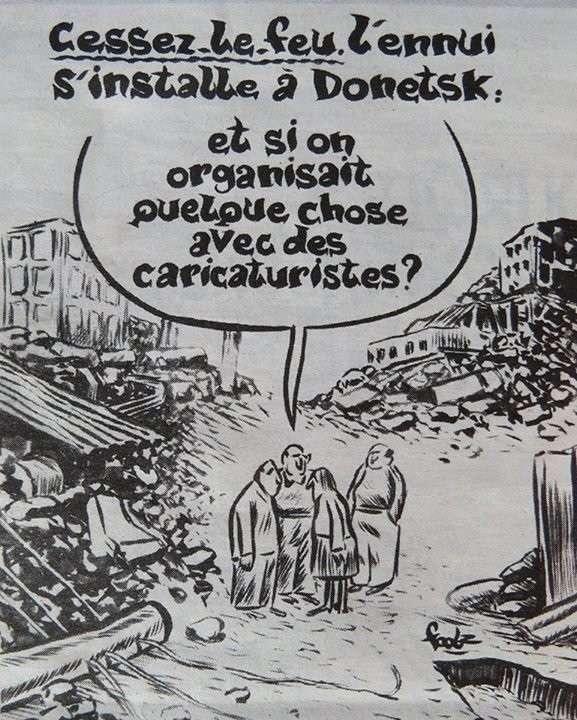Жидо-Charlie Hebdo назвал перемирие в Донбассе «скукой»