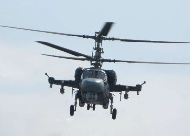 Первый Ка-52К в полёте