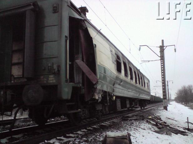 Взрыв под Харьковом повредил поезд из Луганской области