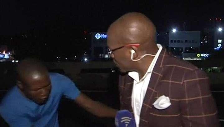 Репортёра ограбили в прямом эфире