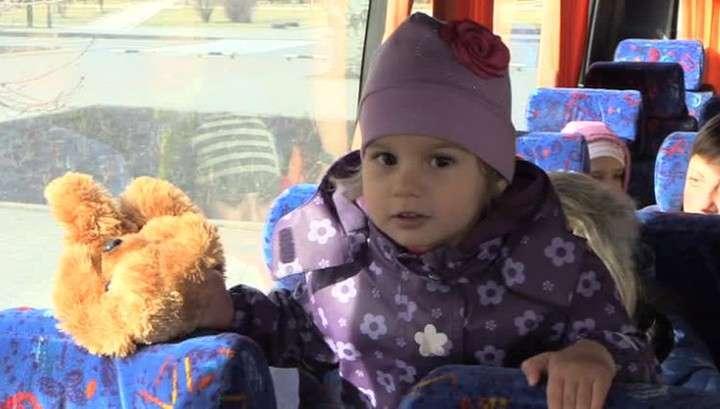 Дети из Донбасса отправились на лечение в Крым