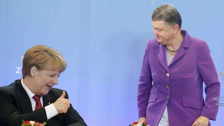 Самозванец Порошенко вызван на ковёр к Меркель
