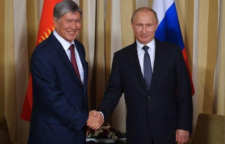 В Санкт-Петербурге встретились президенты России и Кыргызстана.