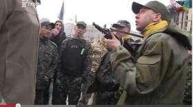 Сегодняшняя массовая драка на Майдане с попытками применить автоматическое оружие (видео) | Русская весна