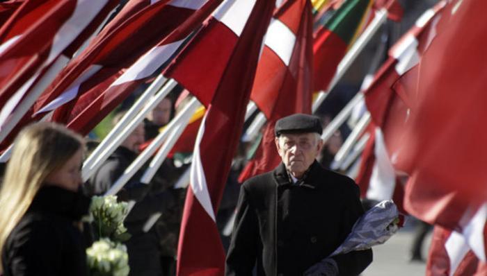 По центру Риги прошли полторы тысячи недобитых легионеров Waffen SS