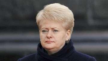 Президент Литвы Даля Грибаускайте. Архив