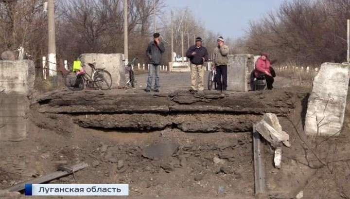 Хунта взрывает мосты чтобы заблокировать Новороссию от Украины