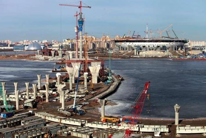Строительство центрального участка Западного скоростного диаметра