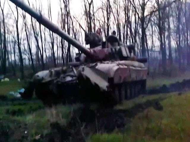 Украинские десантники разгромили блокпост под Славянском