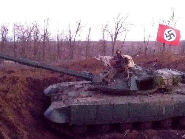 Нацистка Вита Заверуха обстреливает село из РПГ или «Хде вi вiдели нацiстiв в Украiне»