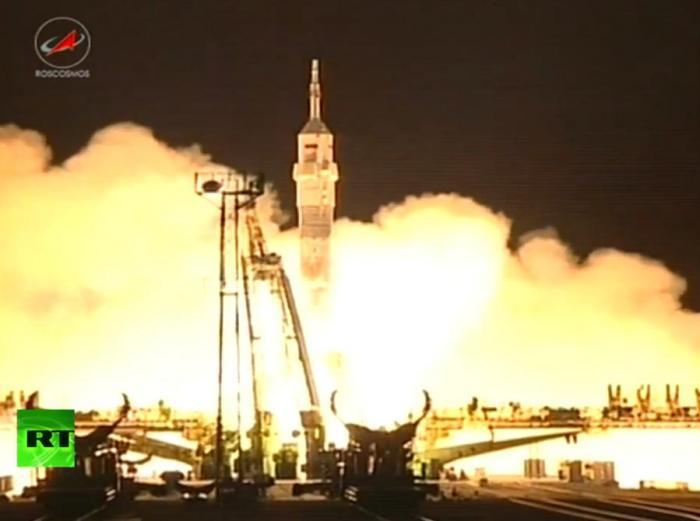 Корабль «Союз» с международным экипажем успешно стартовал с космодрома Байконур