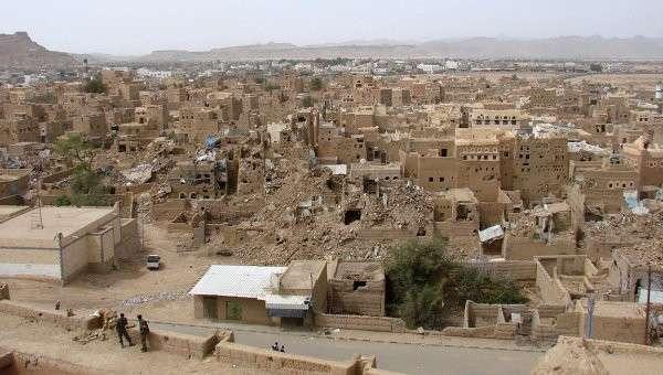 Вид на разрушения в городе Саада. Архивное фото
