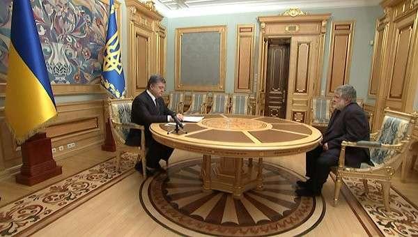 Коломойский поблагодарил Порошенко за сотрудничество после своей отставки. Архивное фото
