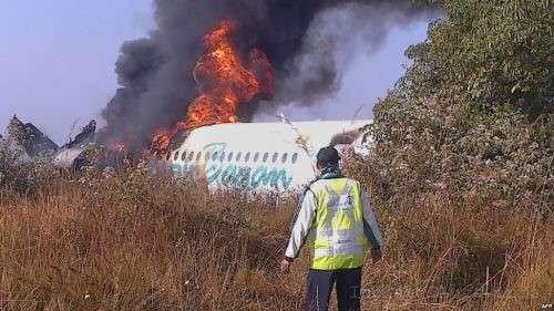 Мьянма авиакатастрофа горящий фюзеляж