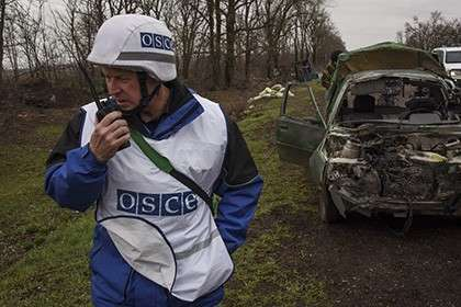 Наблюдатели ОБСЕ в Широкино