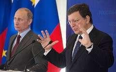 Владимир Путин и Жозе Мануэль Баррозу © РИА Новости, Сергей Гунеев