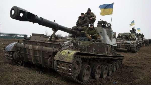 Бронетехника ВСУ в Донецкой области. Март 2015