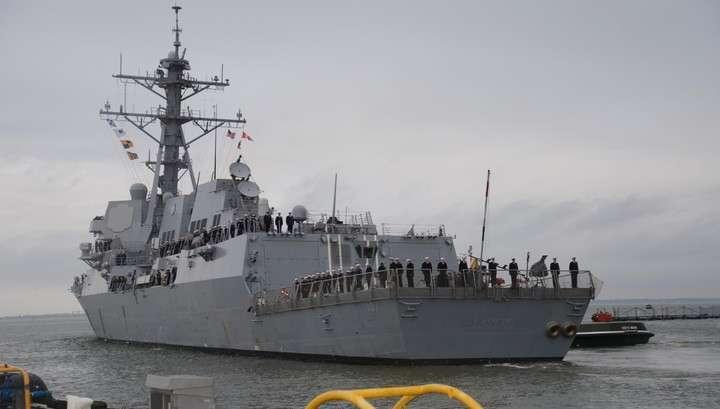 Военный корабль американских бандитов зашёл в Чёрное море поддерживать мир
