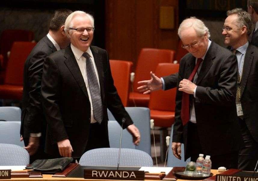 Чуркин против ООН! Что вы все тут несёте! Вам самим-то не стыдно?