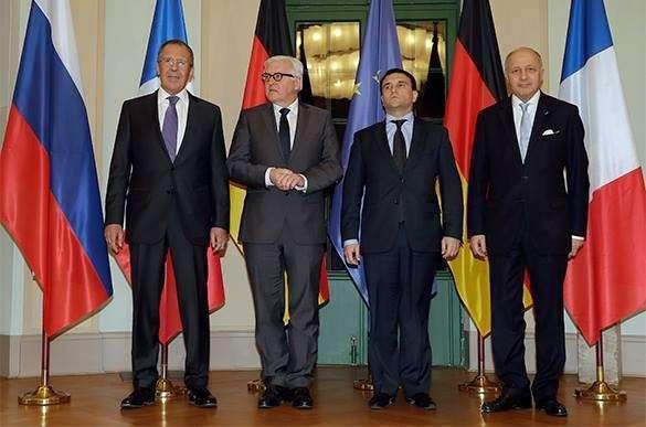 Министры иностранных дел нормандской четверки встретятся в Берлине 13 апреля. Министры иностранных дел