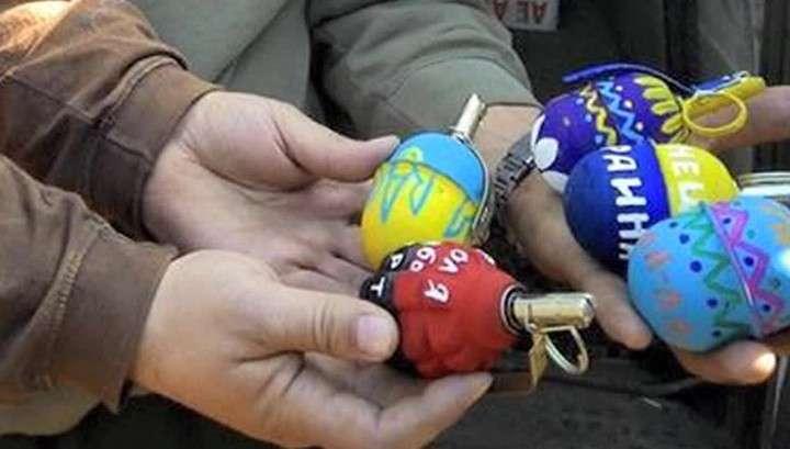 Спятившие укро-каратели раскрасили боевые гранаты
