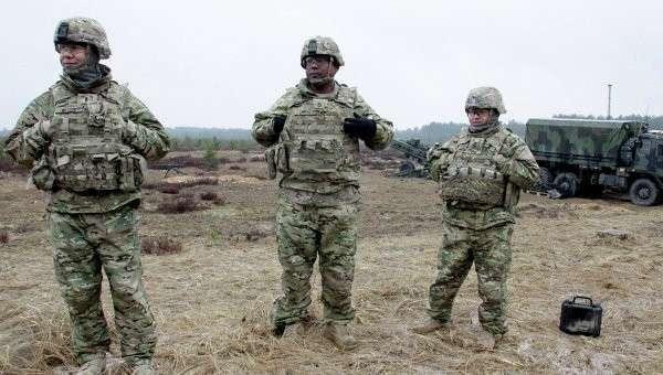 Военнослужащие блока НАТО принимают участие в военных учениях в Латвии. Архивное фото.