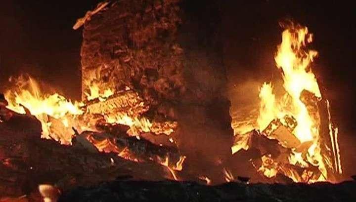 Пожар в Забайкалье угрожает военным складам
