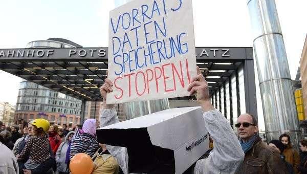 В Берлине протестуют против торгового соглашения с США