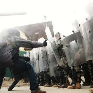 Police State Riot Control Exercise - Public Domain