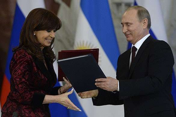 Россия и Аргентина: установлено всеобъемлющее стратегическое партнерство. Путин и Кристина Фернандес