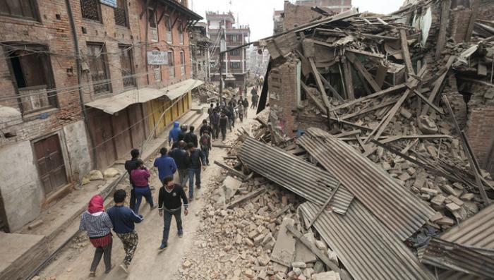 В Непале при землетрясении погибли более 3 тысяч человек