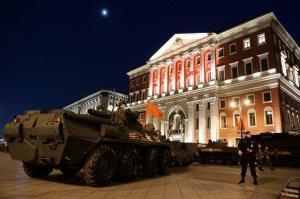 Ночная репетиция парада Победы в Москве: фото и видео