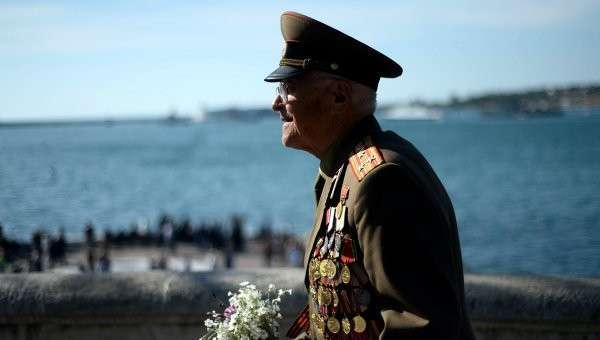 Ветеран Великой Отечественной войны в Севастополе