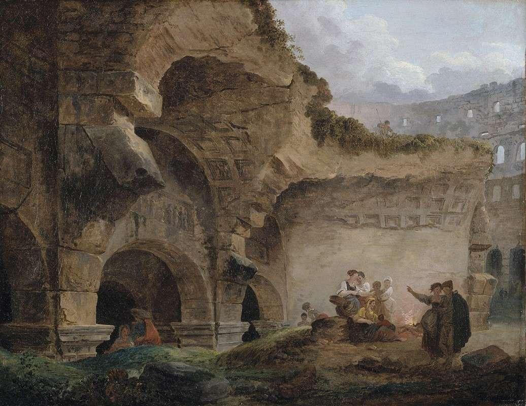 Прачки в руинах Колизея (1767)
