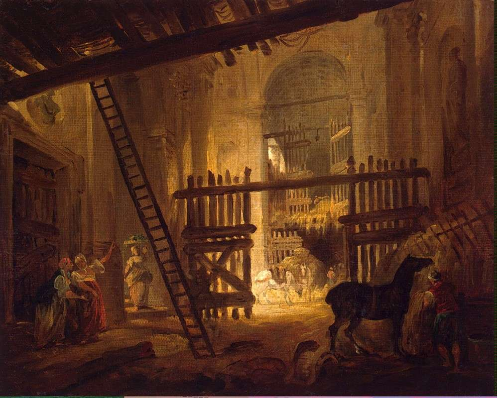 Конюшня в развалинах виллы Джулия (1762)