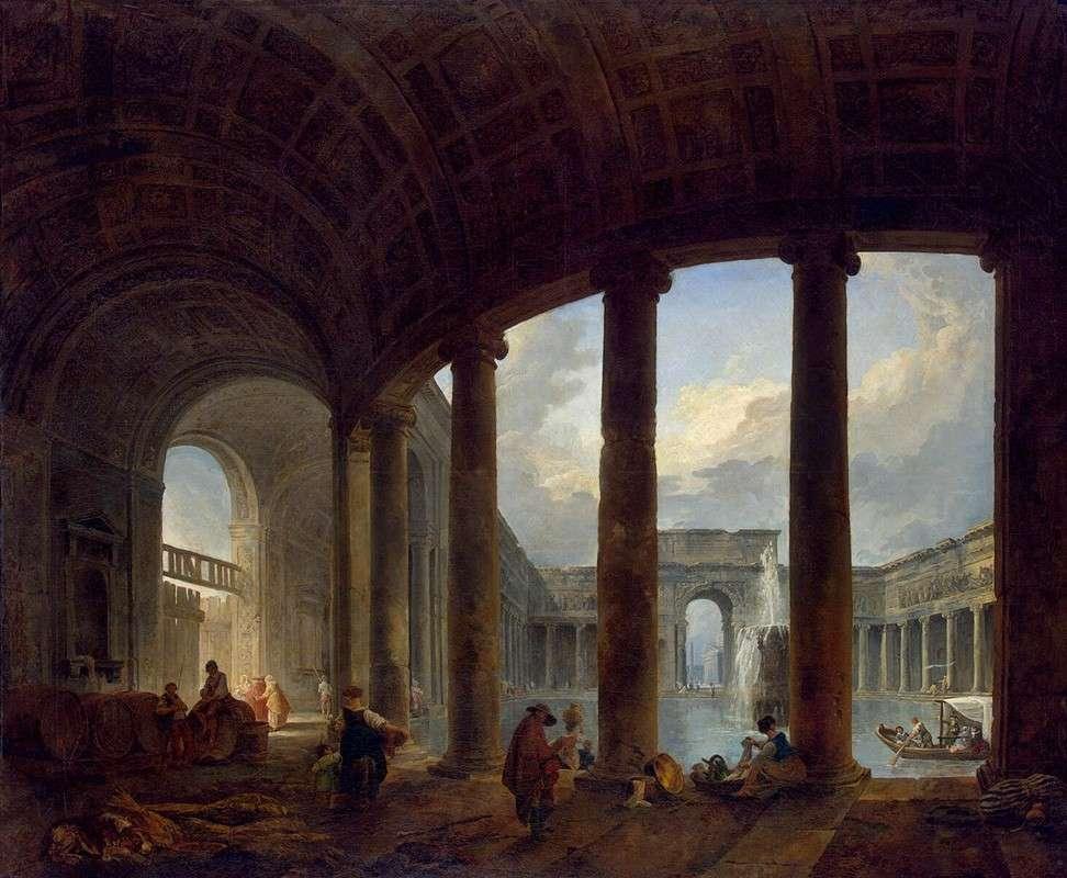 Бассейн, окруженный колоннадой (1772)