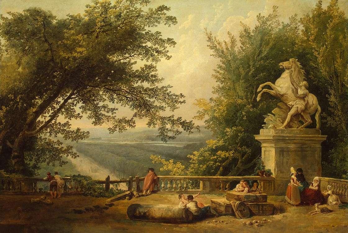Руины террасы в парке Марли (1784)
