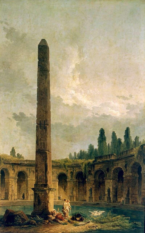 Пезаж у обелиска (1773)
