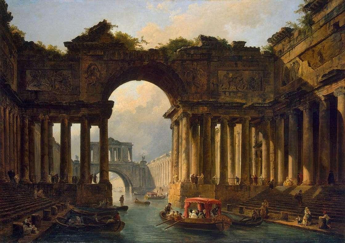 Архитектурный пейзаж с каналом (1783)