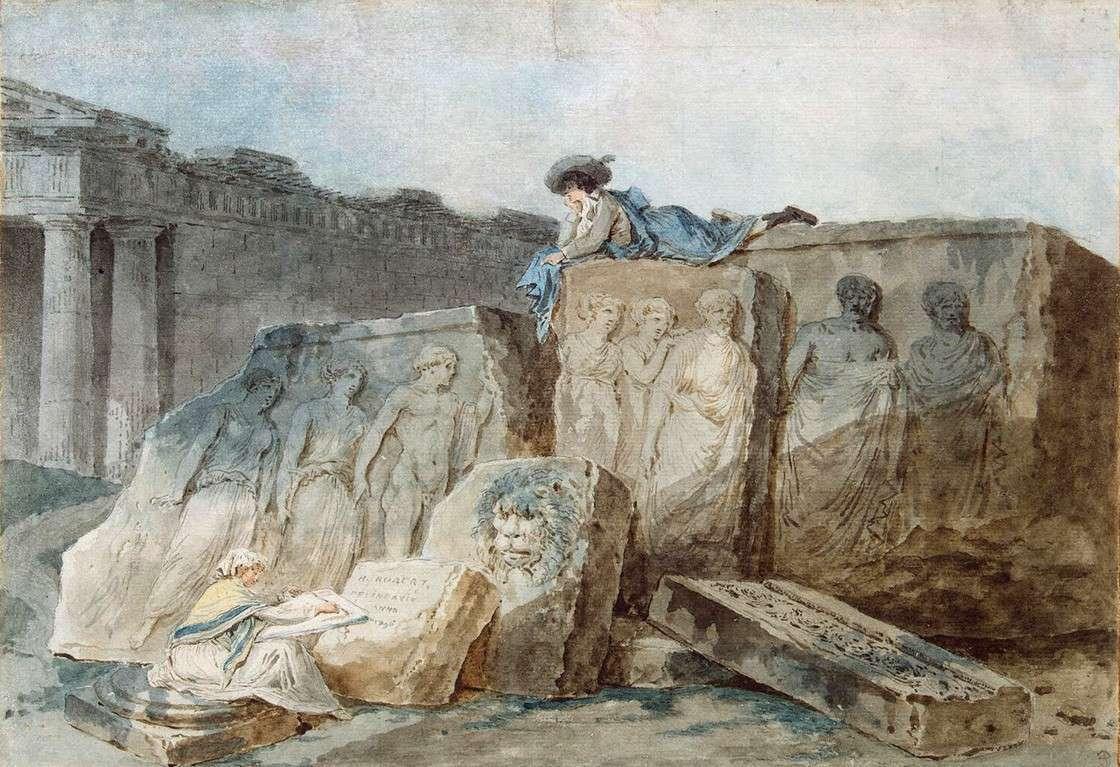 Художник среди древних развалин (1796)