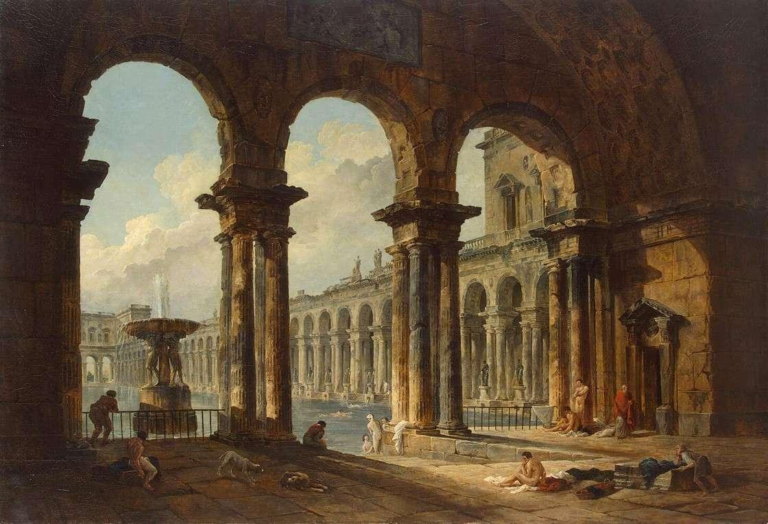 Использование древних руин в качестве общественной купальни (1798)