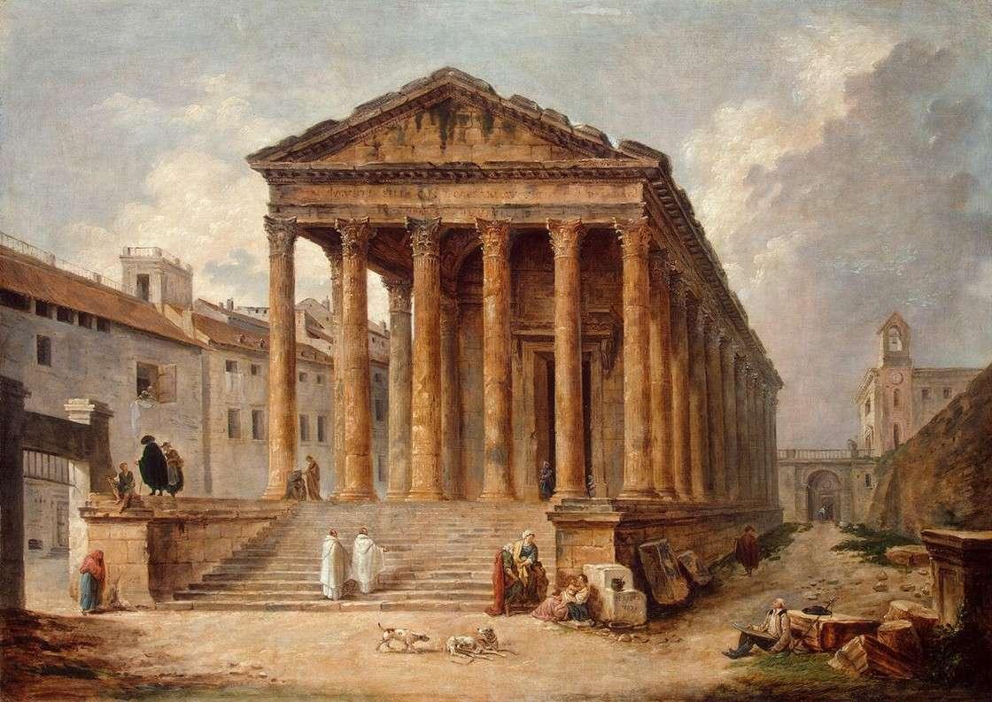 Античный храм, так называемый четырехугольный дом в Ниме (1783)