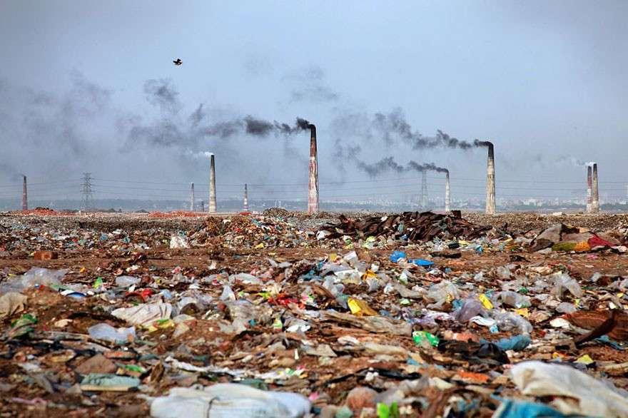 Мусорные пейзажи Бангладеша  мир, население, последствие, фотография