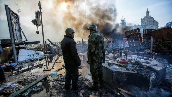 Ситуация в Киеве в феврале 2014 года. Архивное фото