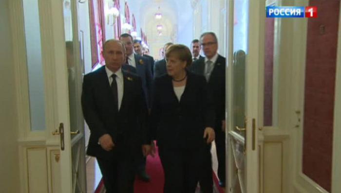 Владимир Путин и Ангела Меркель провели тяжёлые переговоры в Москве