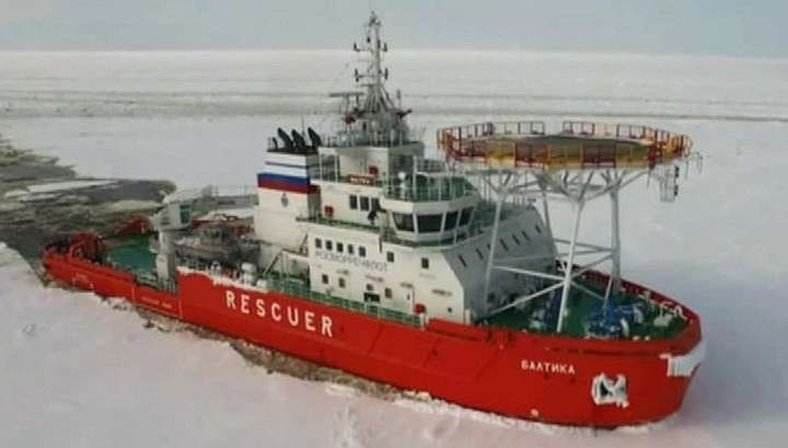 Уникальный ледокол «Балтика» прошёл испытания в Арктике