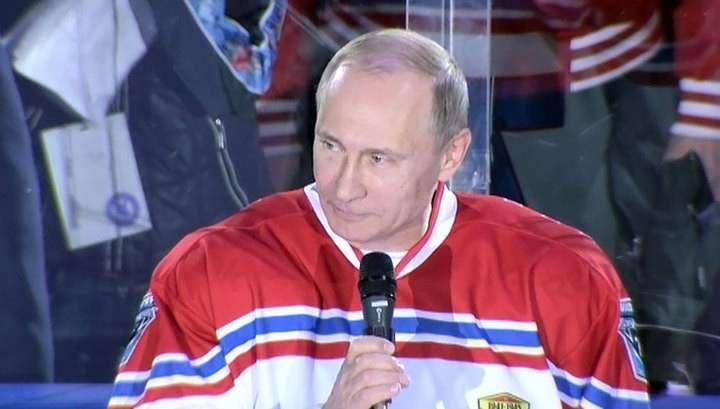 Владимир Путин вышел на лёд за «Звёзд НХЛ»