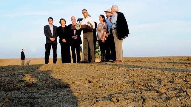 Речь дурака Обамы из высохшей Калифорнии